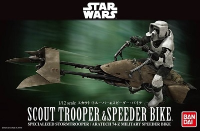 Caja Star Wars Scout Trooper and Speeder Bike bandai