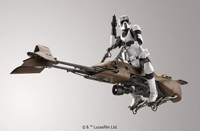 Star Wars Scout Trooper and Speeder Bike bandai