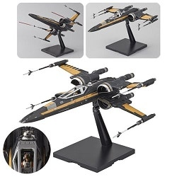 maqueta Poe's Boosted X-Wing Fighter Plastic Kit Bandai